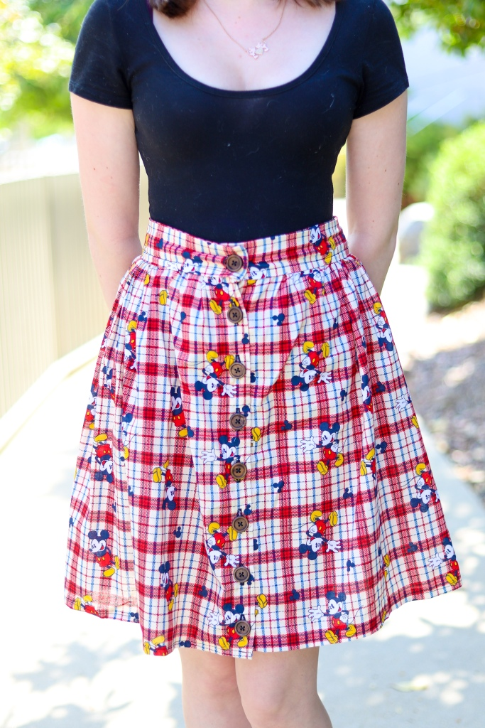 mickey skirt up close
