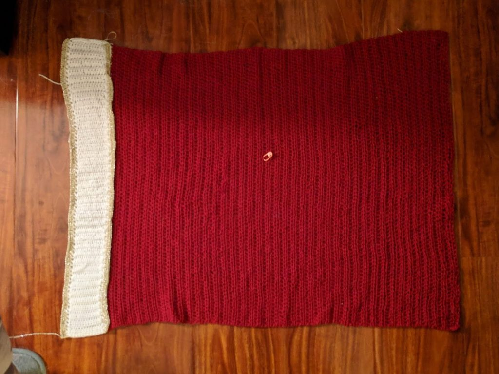 crochet dress progress photo
