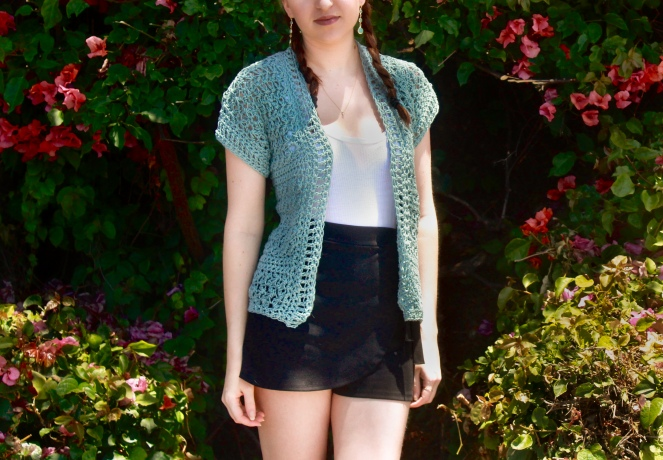 The Harper Cardigan Front View