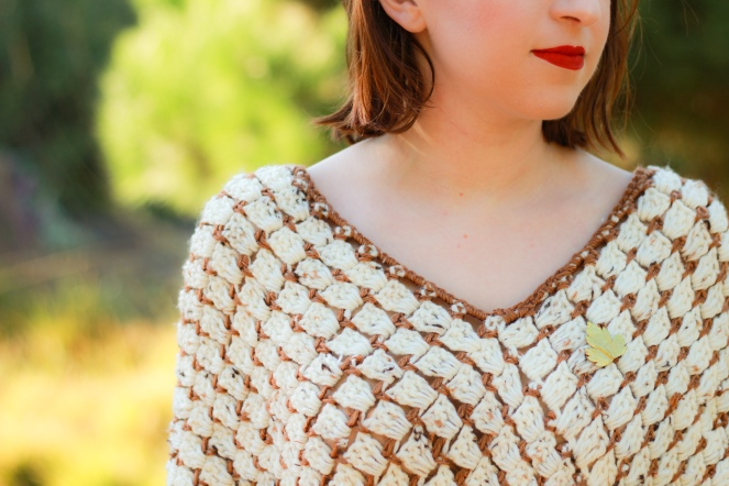 Toasted Marshmallow Poncho Details