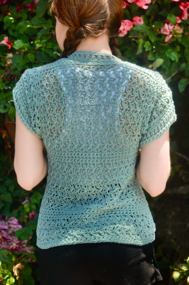 The Harper Cardigan Back View